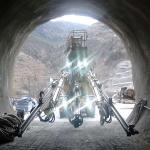 R539 à l'entrée du tunnel